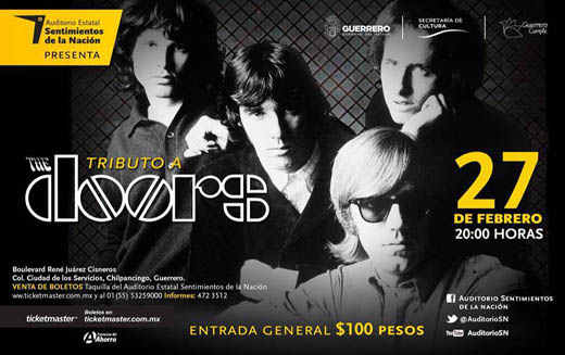 Tributo a The Doors en al Auditorio Sentimientos de la Nación