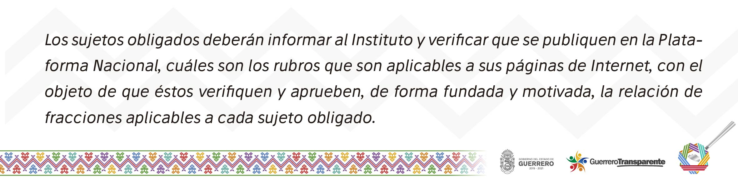 informar Instituto y Tabla de Aplicabilidad